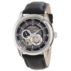 The Bulova BVA-SERIES 120 Automatic Watch is a great timepiece for the business minded man. Product SKU features domed mineral crystal, a black dial, and. Bulova Mens Watches, Army Watches, Mens Watches Leather, Cool Watches, Leather Men, Black Leather, Wrist Watches, Fine Watches, Affordable Automatic Watches