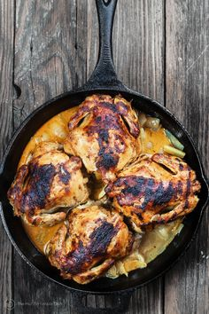 Cornish Hen Recipe utilizing a great Mediterranean garlic-spice rub. Fall-off-the-bone tender! The perfect family dinner or Holiday meal.