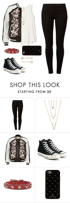 """Untitled #1329"" by deeaaaa ❤ liked on Polyvore featuring Dorothy Perkins, SHAN, River Island, Converse, RED Valentino, Kate Spade and LC Lauren Conrad"