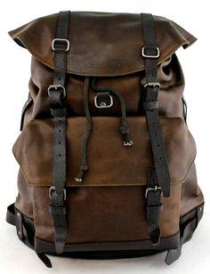 PAUL MARIUS Rucksack knapsack Reisetasche Vintage-leder Alter Schwarz MON LEGIONNAIRE