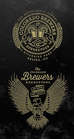 Colorado Brewers Rendezvous Logos by Jared Jacob of Sunday Lounge