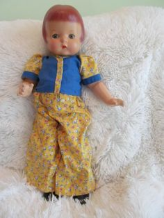 """Antique 19"""" Effanbee Patsy ANN Composition Doll IN Vintage Outfit 
