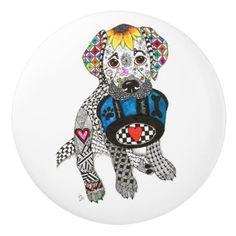 Labrador Retriever Door Knob - Ceramic  $10.10  by KathleenArtCreations  - cyo diy customize personalize unique