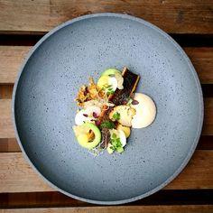 Rainbow Trout, Roasted Cauliflower, Cauliflower Puree, Salted Cucumber, Cauliflower Crumbs, Fried Fish Skin, and Lemon Curd - Kenny Hansen - The ChefsTalk Project