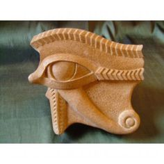 Reconstituted sandstone Wall Mounted or Wall Hanging Sculptures #sculpture by #sculptor David Buck titled: 'Egyptian Eye of Horus (Wall Mounted Bas Relief Sstatues)' £167 #art