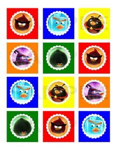 Angry Birds Space Inspired Printable Cupcake by jenniferwhitaker, $5.00