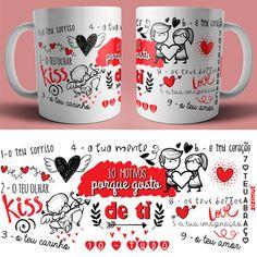 05595c9fd caneca 10 motivos porque gosto de ti Prendas Dia Dos Namorados