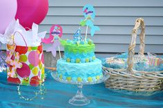 Cute Mermaid Superhero Kids' Birthday cake and kid's birthday party - Mommy Scene