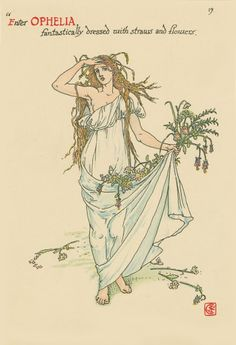 "Walter Crane: Art from ""Flowers from Shakespeare's Garden"" 1906"