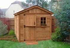 Free Blueprints For 10X12 Wood Garden Shed Outdoor Garden Sheds, Outdoor Garden Furniture, Garden Storage Shed, Outdoor Storage Sheds, Home Depot, Pergola, Building A Container Home, Shed Kits, Wooden Sheds