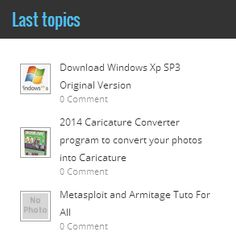 Rotinex Root: Add ''Last Topics'' to Blogger (beautiful shape and new)