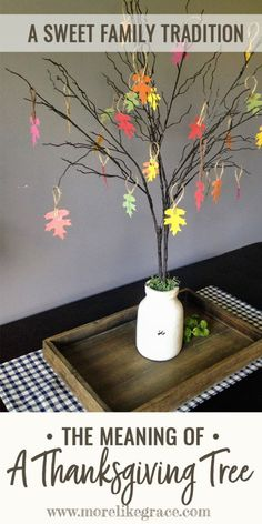 Looking for a way to teach your kids gratitude? Start a new family tradition this November and craft a Thanksgiving tree! This article will tell you the meaning behind the tree and offers simple instructions for creating one of your own. | Thanksgiving Crafts | Family Traditions | Thanksgiving Activities for Kids | Family Thanksgiving Activities | Gratitude | Fall Crafts | Family Fun | Faith Family | #thanksgiving | #fallcrafts | #kids