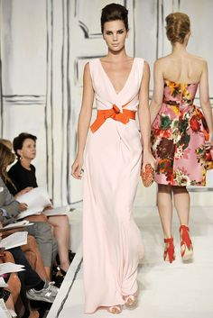 Oscar de la Renta. Gorgeous construction and colour combo.