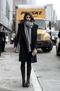 highqualityfashion:  Street Style – FW 15 – Taylor Marie Hill