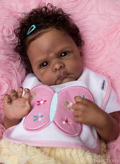Vinyl Reborn Baby Doll Kit Winnie by Emily Jameson AA African American Biracial | eBay