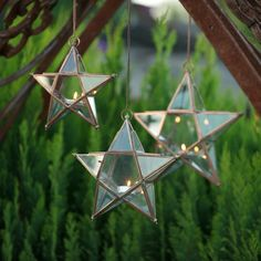 Glasshouse Star Hanging Candle Holder in Copper, Small   Pavilion Broadway