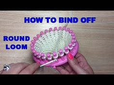 Loom Knitting For Beginners, Round Loom Knitting, Loom Knitting Stitches, Knifty Knitter, Loom Knitting Projects, Circular Knitting Needles, Knitting Tutorials, Spool Knitting, Hand Knitting