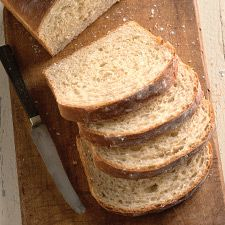 Oatmeal Sandwich Bread  Recipe gives instructions for making dough both manually and in bread machine.