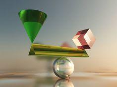 NEO-geometrikus absztrakt - 1 by BAGI LASZLO  jr.