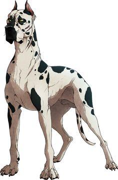 Hougen (Ginga Densetsu Weed) by NinjaKato on deviantART-nice muscle definition! Cute Animal Drawings, Animal Sketches, Art Sketches, Art Drawings, Pet Anime, Anime Animals, Animal Design, Dog Design, Illustration Art
