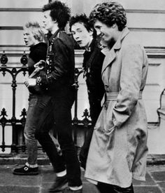"1977 ~ Sex Pistols. From L-R; drummer Paul Cook, bass player Sid Vicious, singer Johnny Rotten, and guitar player Steve Jones. Iconic punk band the Sex Pistols returned to London Thursday 08 November 2007, for a comeback mini-tour to mark the 30th anniversary of their iconic first album, vowing to ""kick some bottom"" in their hometown. Frontman John Lydon, formerly Johnny Rotten, said the band agreed to do a series of shows at the Brixton Academy and in Manchester and Scotland."