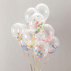Rainbow Bright Confetti Balloon Pack - children's party ideas