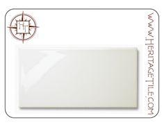 "SAMPLE CARD - 3"" x 6"" field tile in Avalon [Gloss]"