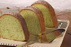 what you need  1pkg. (2-layer size) yellow cake mix  1pkg. (3.4 oz.) JELL-O Pistachio Flavor Instant Pudding  4 eggs  1-1/4cups water  1/4cup oil  1/2tsp. almond extract  7drops green food coloring  2Tbsp. powdered sugar  make it  HEAT oven to 350°F.    BEAT all ingredients except sugar with mixer until well blended.    POUR into greased and floured 12-cup fluted tube pan or 10-inch tube pan.    BAKE 50 to 55 min. or until toothpick inserted near center comes out clean. Cool cake in pan 10…