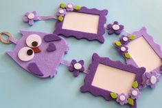 The felt does not go on vacation, on the contrary. Never like this sultry summer . Kids Crafts, Diy Crafts For Girls, Diy Arts And Crafts, Felt Crafts, Paper Crafts, Frame Crafts, Diy Frame, Idee Diy, Camping Crafts