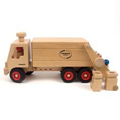 Garbage Truck Wooden Vehicle by Fagus
