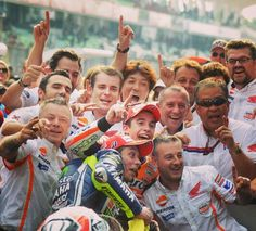A group of legends!!! Don't forget team Repsol Honda!!! Marc Marquez and Valentino Rossi
