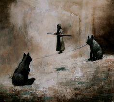 Visual artist Samuli Heimonen Silver string. Acrylic and oil on canvas. 45cm x 50cm 2010.