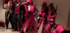 Aint no party like a Deadpool party, cus a Deadpool party never die. oh god. too many deadpools. <<<< There is no such thing as too much Deadpool Deadpool Cosplay, Deadpool Funny, Deadpool And Spiderman, Lady Deadpool, Marvel Funny, Marvel Vs, Marvel Memes, Marvel Dc Comics, Spideypool