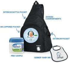Free Gerber Baby Backpack - Get a free backpack loaded with free Gerber formula, a bib, formula samples, coupons, more!  Freebies-For-Baby.com