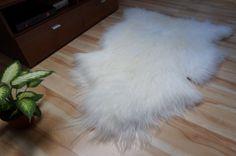 GIANT SHEEPSKIN Iceland White Throw Genuine by TrendingSlippers, $74.99