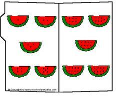 Preschool Printables : File Folder / Watermelon Numbers