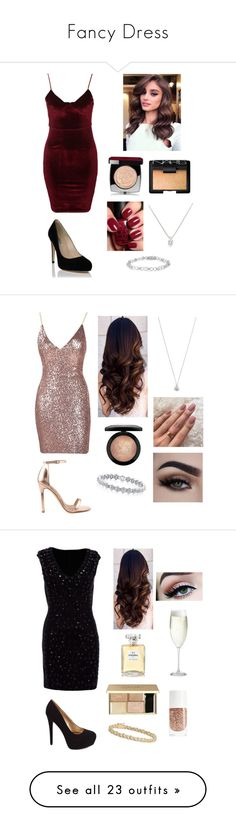 """""""Fancy Dress"""" by stephiebear123 ❤ liked on Polyvore featuring Glamorous, Chanel, NARS Cosmetics, Liliana, MAC Cosmetics, Charlotte Russe, Crate and Barrel, Blue Nile, Kendra Scott and BCBGMAXAZRIA"""