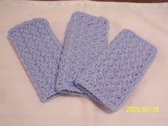 Crochet Baby Washcloths  Set of 3 by kayandgirlscrafts on Etsy, $6.00