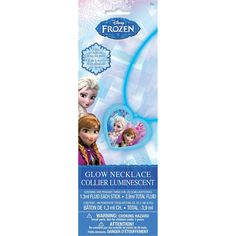 Glow-in-the-Dark Frozen Necklace has three blue light sticks and one heart-shaped charm printed with Anna and Elsa in the center. Stays lit for hours! Frozen Party Favors, Disney Frozen Birthday, Disney On Ice, Party Favours, Frozen Disney, Frozen Necklace, Disney Necklace, Little Girls Makeup, Frozen Merchandise