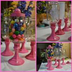 Mason Candy Jars. This would be a great gift to make pretty much anyone!
