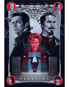 BROTHERTEDD.COM The Prestige Movie, Le Prestige, Series Movies, Film Movie, Nolan Film, I Love Cinema, Movie Poster Art, Movie Collage, English Movies