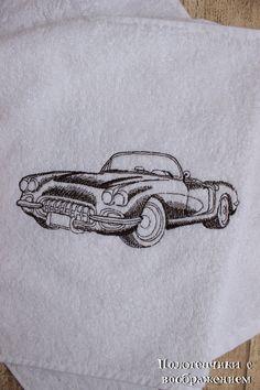 Купить Машинки. Полотенце для мужских рук. - белый, полотенце с вышивкой, полотенце в подарок, полотенце вышитое