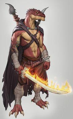 [Art] Rhogar | Dragonborn Monk : DnD Fantasy Character Design, Character Concept, Character Inspiration, Character Art, Dungeons And Dragons Characters, D D Characters, Fantasy Characters, Fantasy Races, Fantasy Rpg