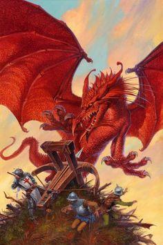 DARRELL K. SWEET - art for Dragon's Eye by Christopher Stasheff - 1994 Baen Books
