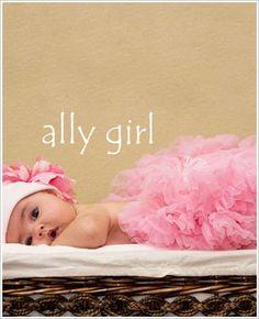 Ally Girl Newborn Pettiskirt *BABY PINK*