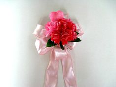 Large Valentine's day bow Gift wrap bow Pink by JDsBowCreations