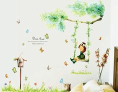 Fashion Creative Little Girl On The Swings Wall Stickers Home Decor Stickers for Kids Rooms Living Room - http://www.aliexpress.com/item/Fashion-Creative-Little-Girl-On-The-Swings-Wall-Stickers-Home-Decor-Stickers-for-Kids-Rooms-Living-Room/32371382414.html