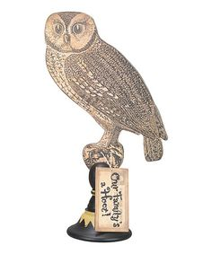 Take a look at this Hoot Owl Pedestal by Primitives by Kathy on #zulily today!