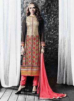 Dashing Resham Work Georgette Churidar Designer Suit