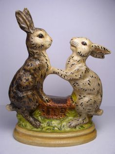 Vaillancourt Folk Art Rabbits 156 1989 | eBay